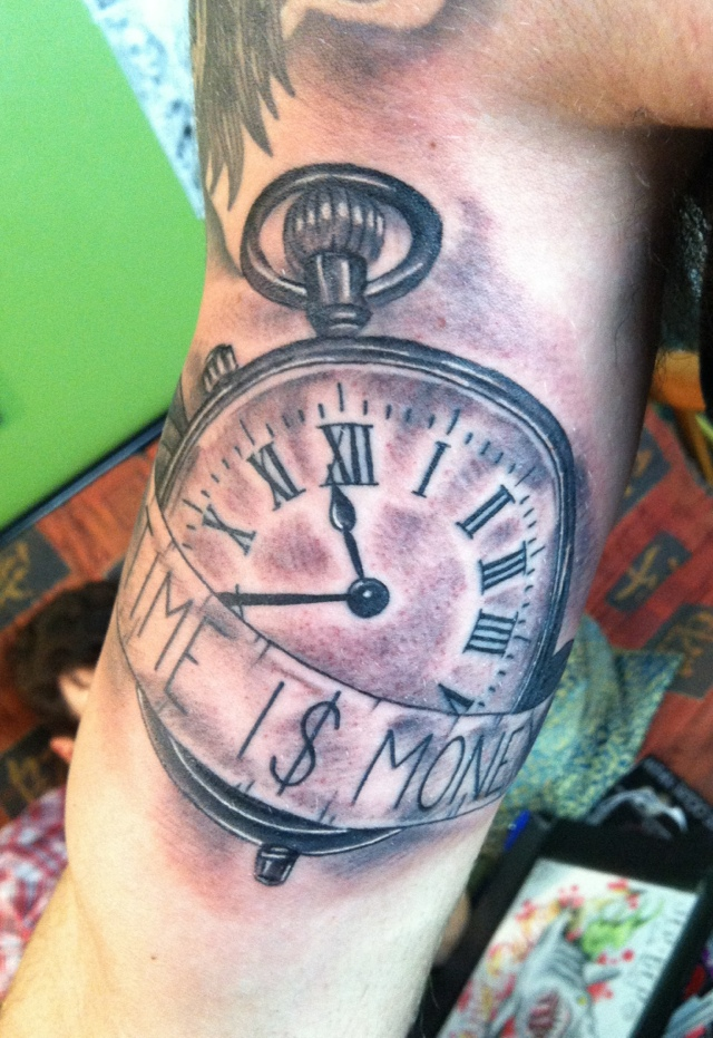 Time is money jeremy lifsey tattoo for Time is money tattoo