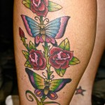 Butterflys an Roses